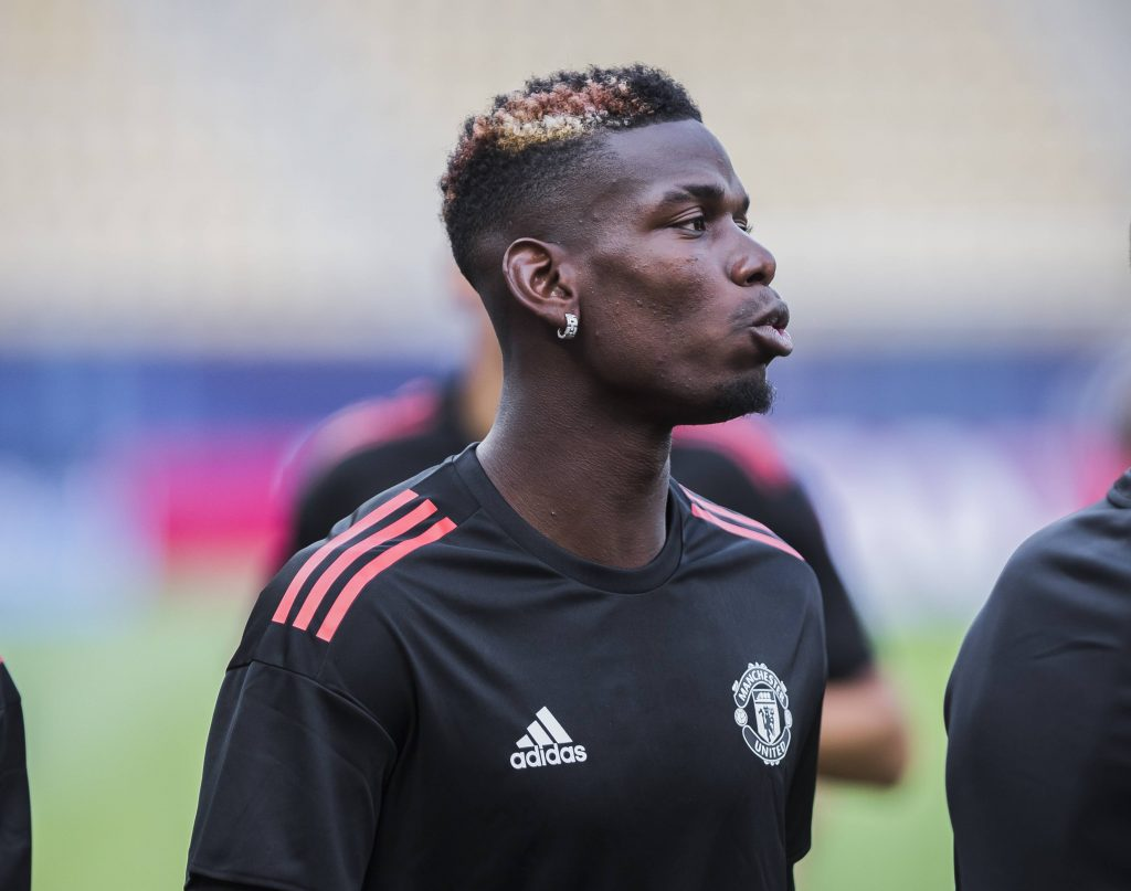 Paul Pogba of Manchester United is linked with a transfer to Barcelona.